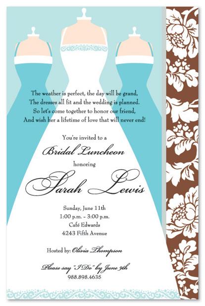 Blue Invitation Designs