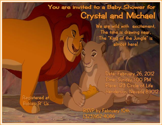 16 Lion King Baby Shower Invitation