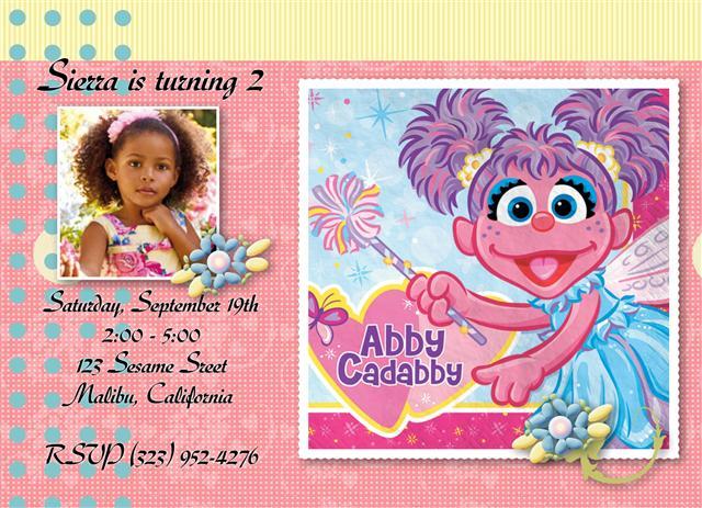 Abby Cadabby Birthday Invitations – Abby Cadabby Birthday Invitations