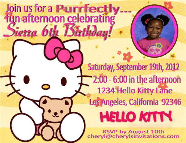 Hello Kitty Big Birthday invitation