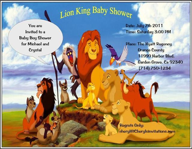 Lion King Invitations