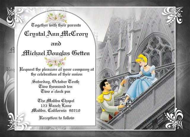 Themed Invitation Designs – Cinderella Wedding Invitation
