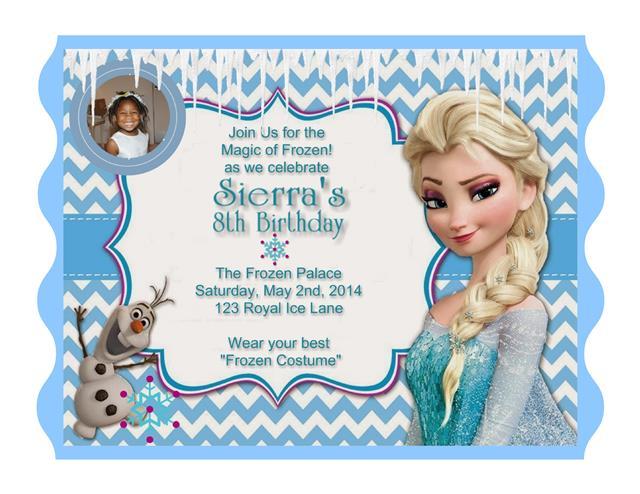 Elsa Frozen Birthday Invitation