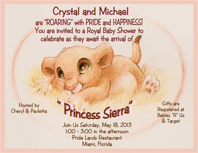 Lion king baby shower invites diabetesmangfo lion king invitations baby shower filmwisefo