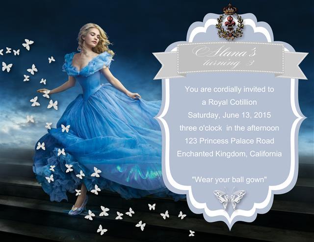 New Cinderella Birthday Invitation
