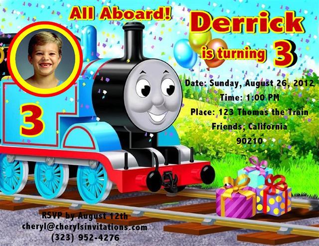 Thomas the Train Birthday Invitation2 – Thomas the Train Birthday Party Invitations