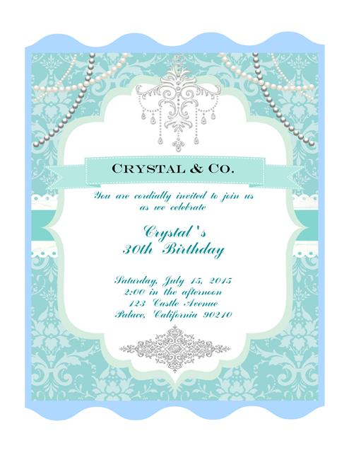 Tiffany Blue Birthday Invitation – Tiffany Blue Birthday Invitations