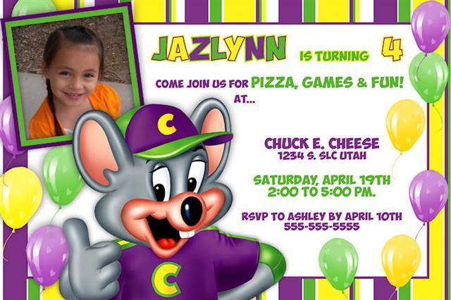 Chuck E Cheese Birthday Invitation – Mardi Gras Birthday Invitation Wording