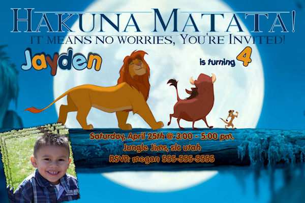 Free Lion King Birthday Invitation Template - Premium ...